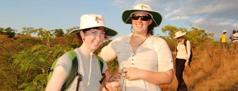 Jacqueline Matthews and Emma James in Malawi