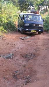 2 James driving off road