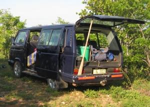 3 VW back door with spoon