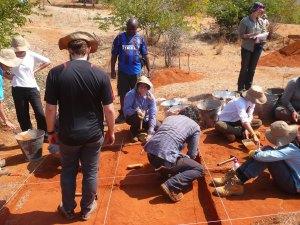 Julie excavating